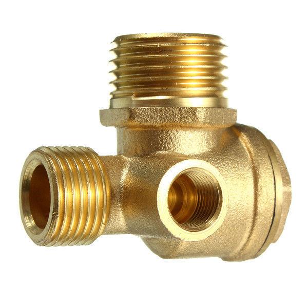 USA-3 Port Brass Central Pneumatic 40400 Air Compressor Check Valve Thread Tools