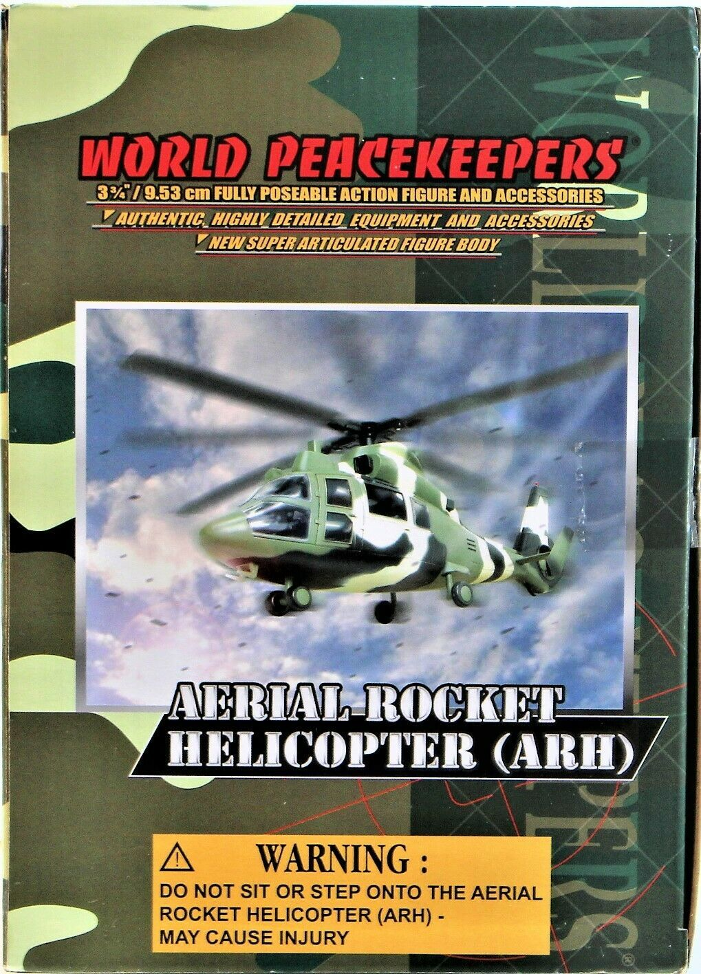 World Peacekeepers Power Team Elite Aerial Rocket Helicopter (ARH) 1:18 Scale image 7