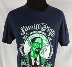 Snoop Dogg Happy 420 Adult Large T Shirt Blue Grown In Long Beach Marijuana Weed - $14.84