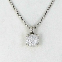 David Yurman Chatelaine Pave Diamond 0.64cts Necklace 11mm Sterling New ... - $1,794.50