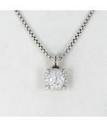 David Yurman Chatelaine Pave Diamond 0.64cts Necklace 11mm Sterling New ... - $1,794.50