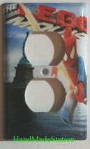 Lego Spiderman in NYC Liberty Light Switch Power Outlet Wall Cover Plate Decor image 2