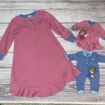 Bitty Baby Boy & Girl Thermal Pajamas Set Vintage HTF & Girls Gown Sz M (5) - $76.80