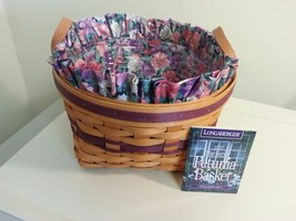Longaberger Petunia Easter Basket Combo New In Original Packaging May Series - $59.35