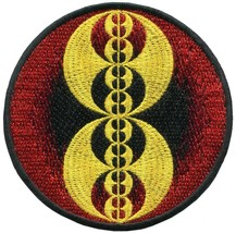 Crop circle ufo alien ET embroidered applique iron-on patch C-5 - £2.44 GBP