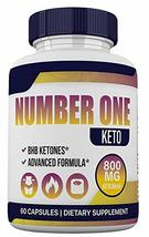 Number ONE Keto - BHB and 800MG Proprietary Blend - 1 Month Supply - 60 Capsules - $18.99