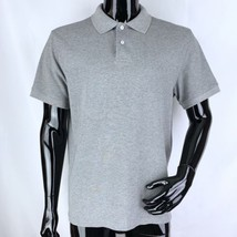 J Crew Mens Large Solid Gray 100% Cotton Short Sleeve Polo Shirt - $14.01