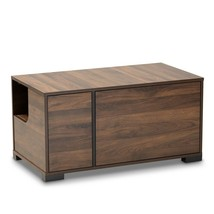 Cat Litter Box Cover / Cat House End Side Table Furniture Brown Rectangl... - $174.95