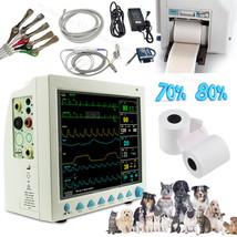 Veterinary Patient Monitor + Printer,ICU VET Vital Signs Monitor 6 Param... - $536.51