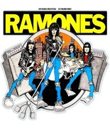 The Ramones shaped contoured vinyl sticker 80mm x 80mm Joey Ramone punk ... - $3.13