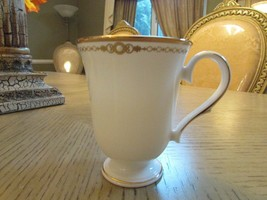 "VTG LENOX BONE CHINA CLASSIC COLLECTION PEARL GOLD ACCENT MUG 4.25"" USA - $14.80"