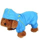 Pet Dog Raincoat Waterproof Jumpsuit Puppy Drawstring Hooded Rain Jacke... - $19.37