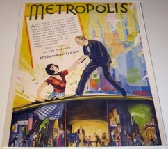 "1927 Trade Ad Silent Sci-Fi Movie ""Metropolis""  Hard to Find - $21.97"