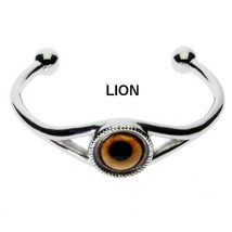 Men's Dramatic Glass Eye Cuff Bracelet with your choice of 11 Daring Ani... - $35.99