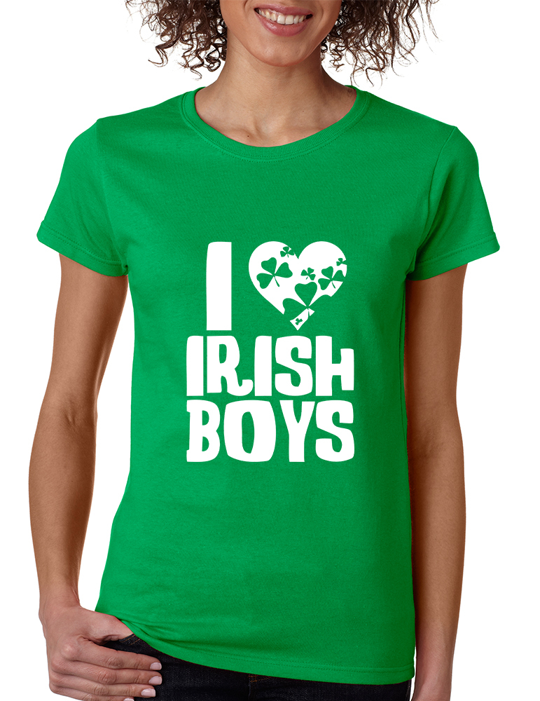 Primary image for Women's T Shirt I Love Irish Boys St Patrick's Day Party Tee