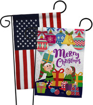 Santa Helper Merry Christams - Impressions Decorative USA - Applique Gar... - $30.97