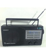 Vintage Sony AM FM TV Weather Portable Radio AC/DC Power Gray Tested - $21.95