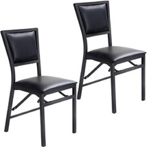 Set of 2 Metal Folding Chair Dining Chairs - $155.42