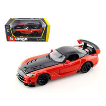 Dodge Viper SRT 10 ACR Orange 1/24 Diecast Model Car by Bburago 22114or - $29.34
