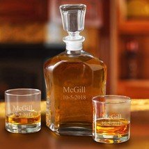 Personalized Decanter Set with 2 Low ball Glasses - $59.99