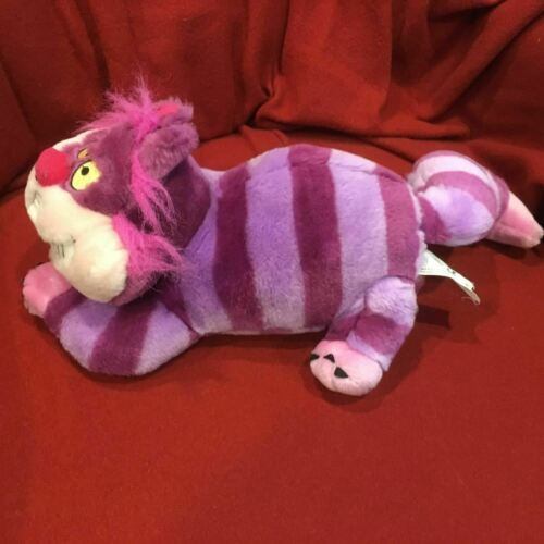 "Disney Store Cheshire Cat Alice in Wonderland Plush Stuffed Hot Pink 12""-18"""