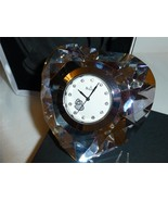 Bulova Diamond Cut Heart Shape Paperweight / Desktop Clock Time Piece  - $25.00