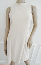 Nwt Romeo & Juliet Couture Mock Neck Party Swing Dress Sz M Medium Oatme... - $67.27