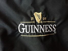 Guinness Full Zip Jacket Black Men's Size XLarge Says One Size - $28.49