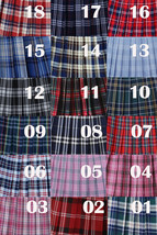 Light BLUE PLAID Skirt Women Girl Pleated Plaid Skirt Outfit Mini Plaid Skirt image 2