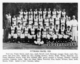 MLB 1958 Pittsburgh Pirates Black & White Team Picture 8 X 10 Photo Picture - $5.99