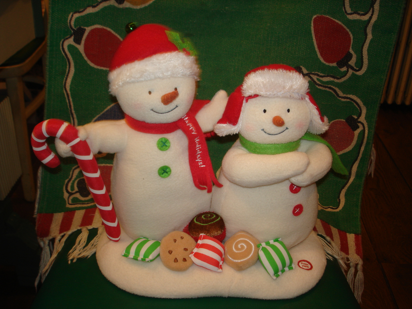 HALLMARK JINGLE PALS SEASON'S TREATINGS SNOWMAN SINGING MOTION MUSIC 2008 CLEAN
