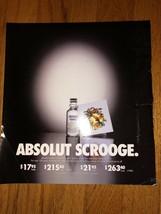 Absolut Scrooge Pricing Original Magazine Ad - $2.49
