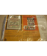 TINY TIM'S SAMPLER EMBROIDERY KIT FROM THE CREATIVE CIRCLE, #2415 BNIB f... - $11.14