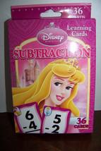 Disney Princess Subtraction Learning/Flash Cards (Dark Pink Box) - $4.32