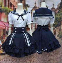 Japan Anime Cosplay Maid Costume Lolita School Uniform Sailor Princess D... - $29.99