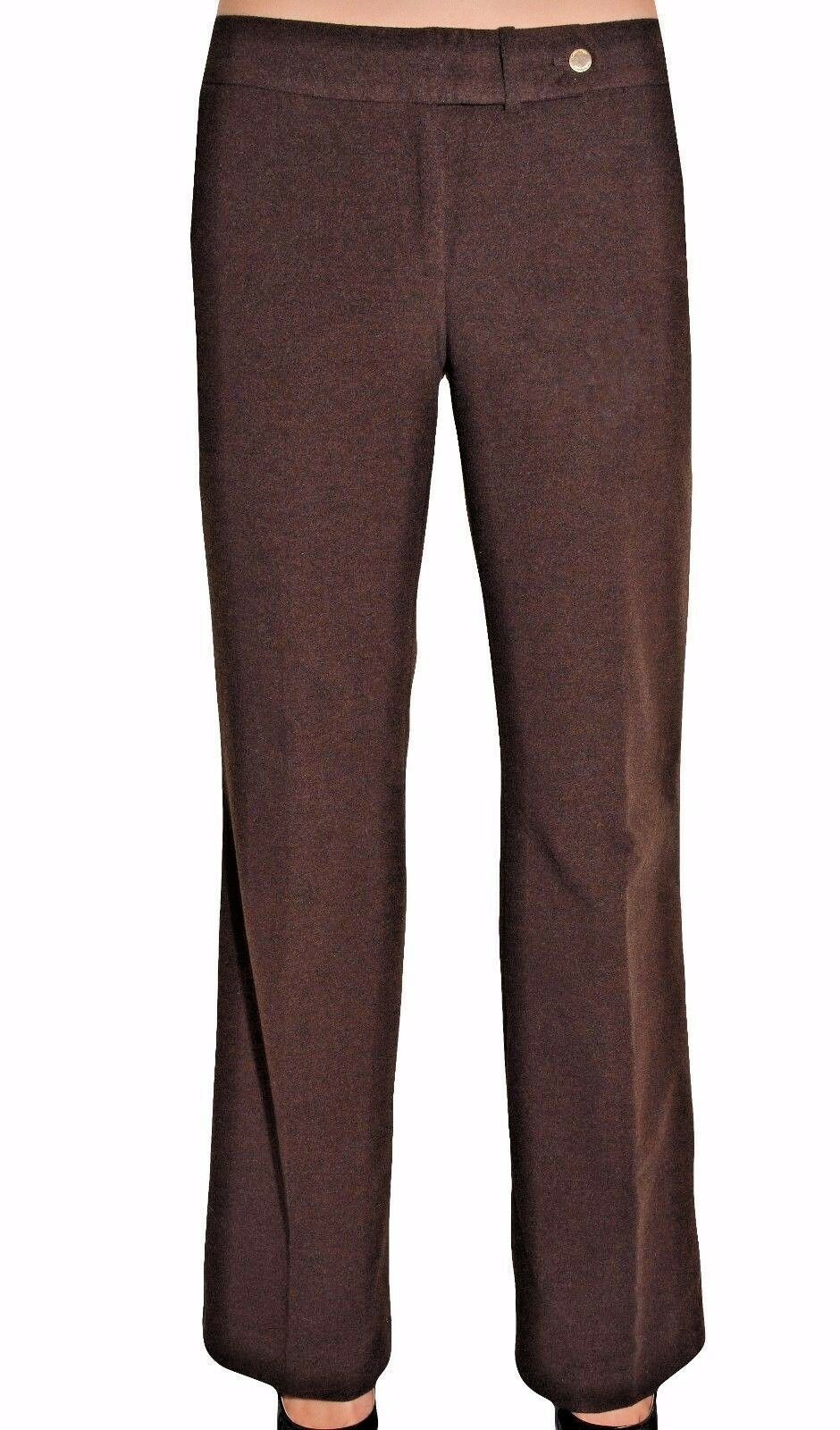 Primary image for Calvin Klein Women's Classic Fit Lined Dress Pant Trousers  Brown  Sz 10