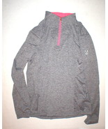 NWT Womens New 14 Spyder Top Long Sleeve Heather Black White Bright Pink... - $63.60
