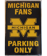 """Michigan Fans Parking Only Aluminum Wall / Man-cave Sign 12""""X18"""" - $19.15"""