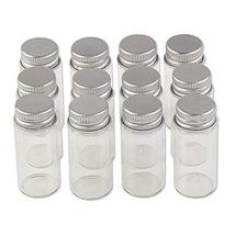 24 Units 10ML Mini Glass Bottles with Metal Cap Empty Small Wishing Bott... - $34.41