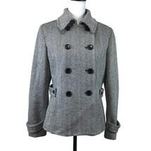Express Design Studio Womens Coat Size Medium Black/White Winter Hip Len... - $19.34