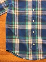 Gap Kids Boy's Blue, Green & White Plaid Short Sleeve Dress Shirt - Size: Medium image 10