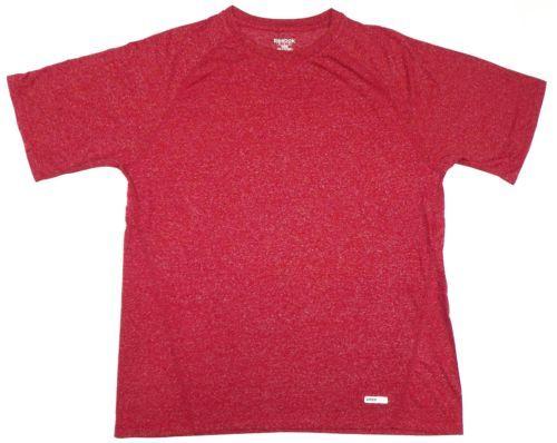 Men's Reebok Speed Wick Shirt Performance Training SS Athletic Tee T-Shirt Red