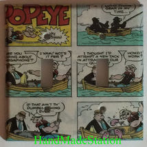 Popeye Comics book Toggle Rocker Light Switch Outlet wall Cover Plate Home Decor image 2