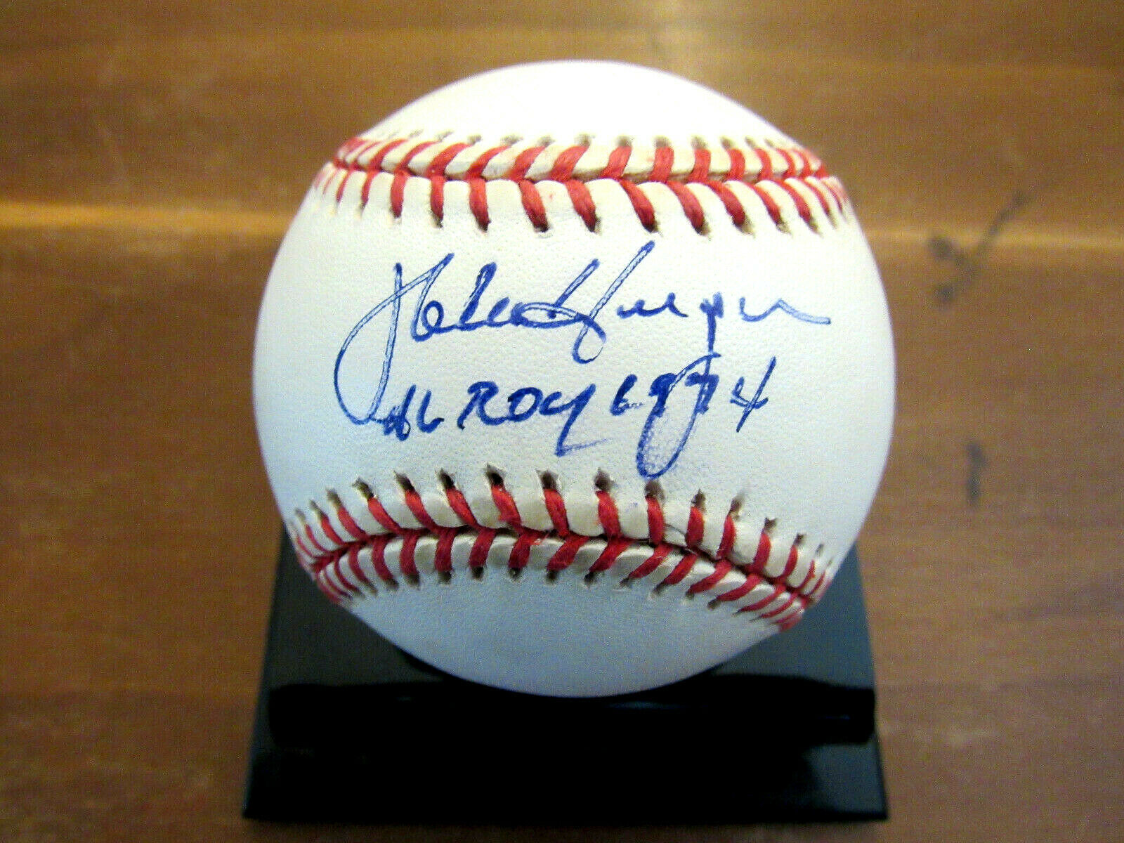 Primary image for MIKE HARGROVE AL ROY 1974 1ST BASEMAN & MANAGER SIGNED AUTO VTG OAL BASEBALL JSA