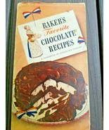 Vintage 1948 Bakers Favorite Chocolate Recipes Pamphlet 3rd Edition - $8.99