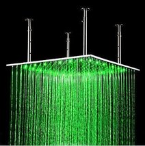 No Batteries Needed 24 Inch Stainless Steel Shower Head with Color Changing LED  - $564.25