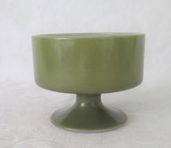 Federal Glass Footed Sherbet, Avocado Green, circa 1970's - $6.00