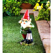 Solar Lantern Keeper Gnome Statue - $39.63