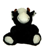 Best Made Toys Black White Cow Bull w/Bow Tie Plush Lovey 8 inch Stuffed... - $19.68