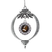 Inspired Silver Football Lovers Circle Holiday Decoration Christmas Tree Ornamen - €12,87 EUR